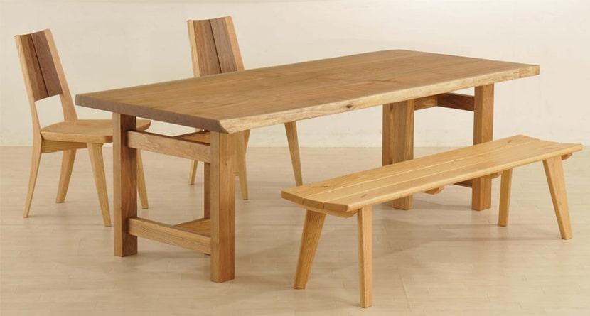 共木テーブルの兼用脚